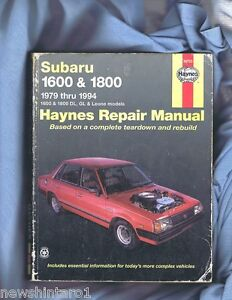 SUBARU-1600-1800-REPAIR-MANUAL-1979-to-1994