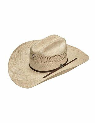 ARIAT Western Cowboy Hat Straw Sisal Double S Crown Natural A73148 Straw Cowboy Hat Hats