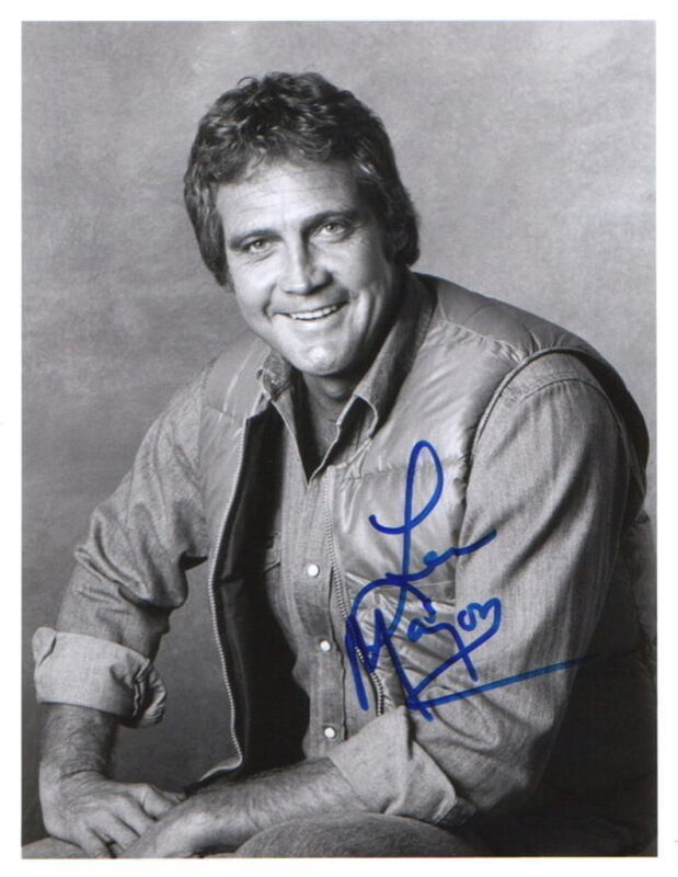 LEE MAJORS.. The Fall Guy's Handsome Hunk - SIGNED