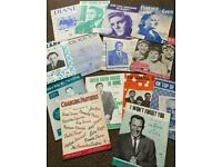 Sheet Music Huge Collection of Antique and Vintage 1900's-1970's