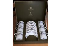 ROYAL WORCHESTER JUNE GARLAND COFFEE SET (BOXED)