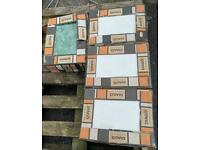 Tiles Job lot x 4 packets CERAMIC TILES NEW/UNUSED