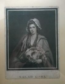 salad girl ' (circa 1787 ) william ward mazzotone print