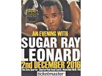 An Evening with SUGAR RAY LEONARD - Fri 2nd Dec in Mansfield