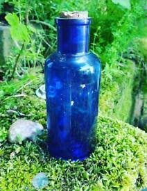Vintage blue bottle