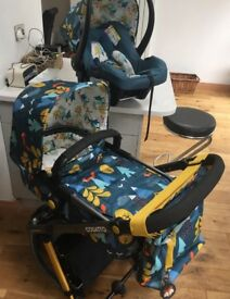 Cosatto giggle 2 foxtale pram with travel cot and car seat