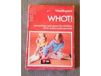 WHOT! CARD GAME BY WADDINGTONS VINTAGE EDITION 1977. COMPLETE AMD GOOD CONDITION