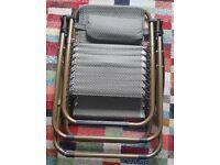 Folded recliner chair outdoor/indoor