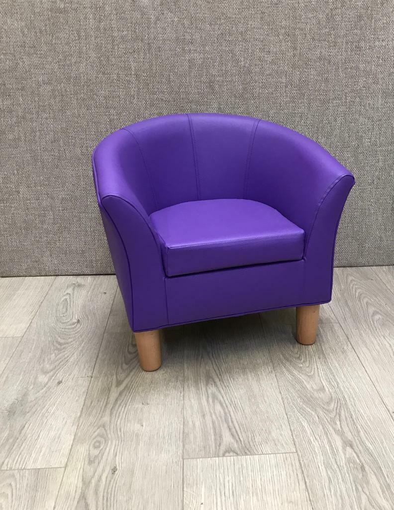 Small Kids Tub Chair - Purple Faux Leather | in Wollaton ...