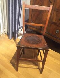 Lovely solid wooden child's bedroom chair