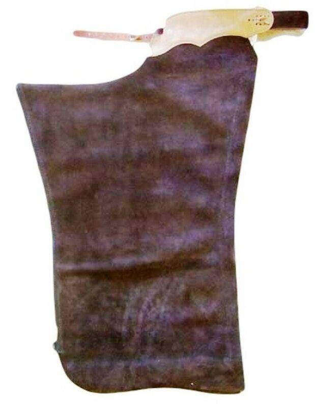 B Bar B Western Chaps Adult Shotgun Latigo Basic Adjustable Brown
