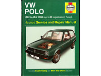 HAYNES VOLKSWAGEN VW POLO 1982 - 1990 PETROL