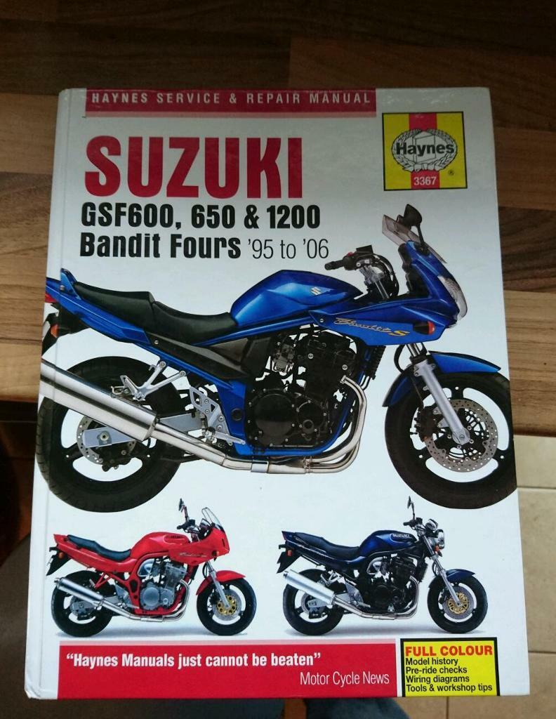 Haynes manual 3367 Suzuki Bandit 95 to 06