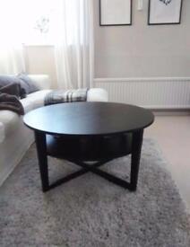 Dark brown coffee table