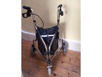 New Three wheeler mobility walker and new unopened extra wide shower board mobility aid