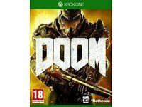 Doom Xbox One - Perfect Condition with unused DLC code