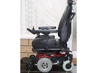 ELECTRIC WHEELCHAIR IMMACULATE JAZZY ULTRA WITH FUR LINED BODY WARMER, CAN DELIVER