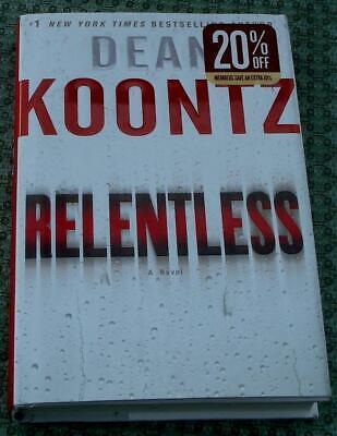 Relentless, Dean Koontz, Hard Cover, 2009, First Edition, Best Seller, VG
