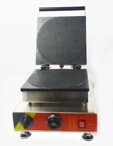 BIG SELL! Commercial Nonstick Electric Single-head Square Waffle Cone Maker Iron Baker Machine (022245)
