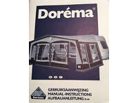 Full awning for caravan 'Dorema President XL300' new condition