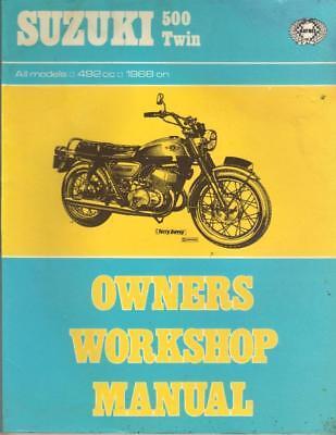 SUZUKI T500,R,J,K,L,CHARGER,COBRA HAYNES WORKSHOP MANUAL 1968-1974