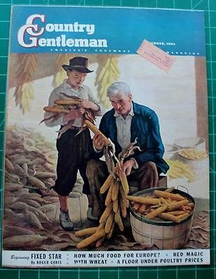 Vintage Country Gentleman Cover Sept.1944 N C Wyeth Farmers Corn Harvest