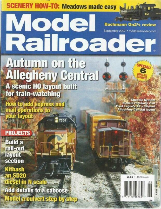 Model Railroader September 2007 Modeling Culverts Allegheny Central HO Layout