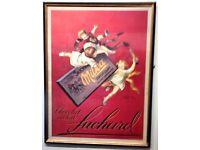 SUCHARD CHOCOLAT AU LAIT - FRAMED AND GLAZED PRINT