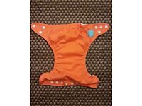 Charlie Banana One Size Cloth Nappy with 2 inserts | ORANGE | £20 | GREAT CONDITION | Rawmarsh