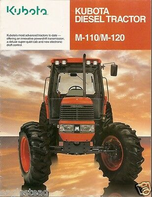 Farm Tractor Brochure - Kubota - M110 M120 - 1998 F1579