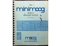 Minimoog operation manual