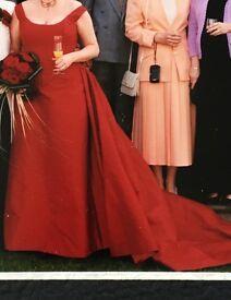Wedding Dress - 3 piece red dress