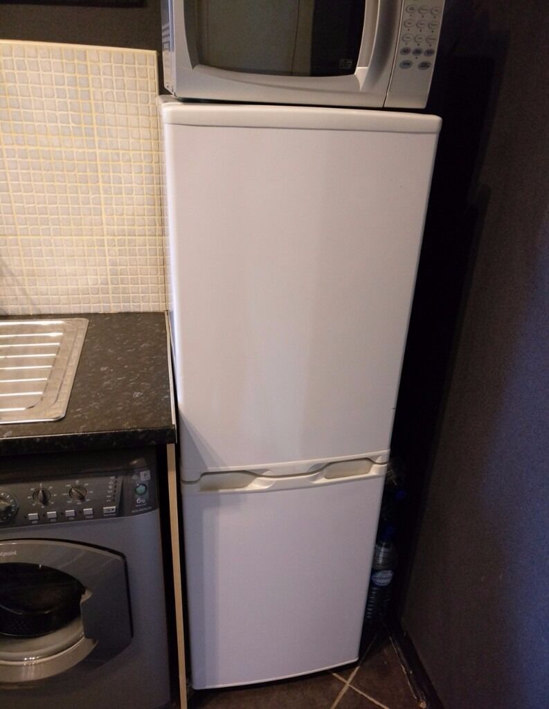 ARGOS TALL FRIDGE FREEZER ASFF48145W White GREAT CONDITION! 145cm height 48cm width 50cm depth CHEAP