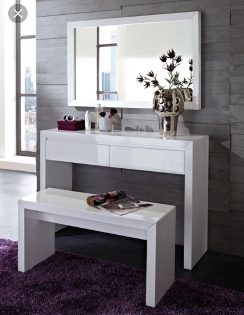 dressing table console table modern desk white high. Black Bedroom Furniture Sets. Home Design Ideas