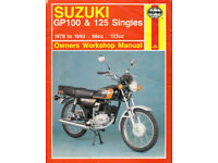 HAYNES SUZUKI GP100 &125 SINGLES MANUAL 1978-1993