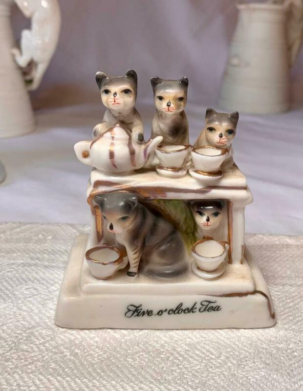 Cat Kitten GERMAN CONTA & BOEHM Victorian Fairing Porcelain