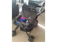 Selling Unused Joie Aire Twin Stroller (Pink and Blue)