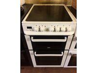 Zanussi White 50cm Freestanding electric cooker