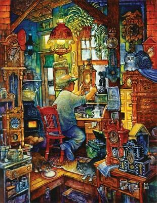 - SUNSOUT JIGSAW PUZZLE THE CLOCK MAKER BILL BELL 1000 PCS #21894