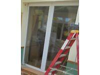 Two PVCU Sliding Doors and Track (Pocket Door)