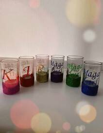 PERSONALISED GLITTER SHOT GLASS