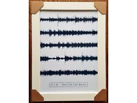 Personalised Song Sound Wave Print R.E.M Man on the Moon