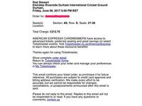 2 tickets (front block) - Rod Stewart - Chester Le Street Cricket Ground - June 9th