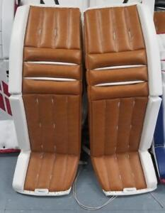 "Brand New Buckeye Vintage Graphic Pro Goalie Pads 34""+2"