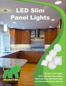 PROMO!! NEW Product!! Wet Location 4'' Slim Panel/Pot Light 9W=50W cUL Certified !! Unbeatable 8 year Warranty!!