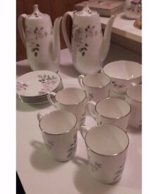 Royal Adderley Tea or Coffee Set 'Silver Rose