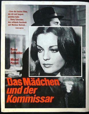 Das Madchen und der Kommissar (Romy Schneider) 9x12 ad sheet