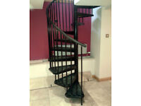 Spiral Staircase Flat Pack Kit Black Arke Civic Indoors Stairs Self Assembly