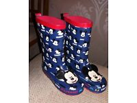 Mickey Mouse wellie boots by Disney size 10