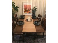 Mahogany Dining Table and chair set